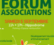 Forum des Associations Samedi 5 Septembre de 11h à 17h.