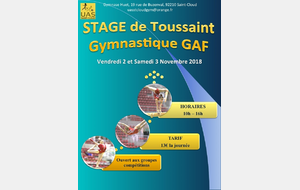 Stage GAF Toussaint